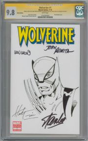 Wolverine #1 CGC 9.8 Signature Series Signed Stan Lee John Romita Wein Trimpe Sketch Marvel comic